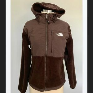 The North Face Hooded Jacket, Brown, Small